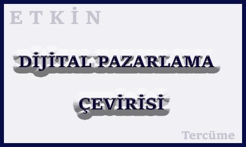 Dijital Pazarlama Çevirisi