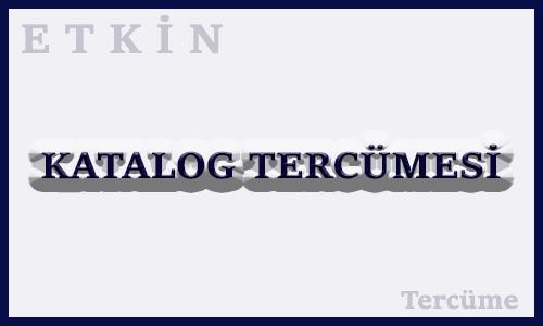 Katalog Tercumesi